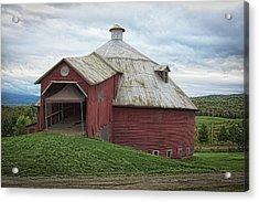 Round Barn - Mansonville, Quebec Acrylic Print