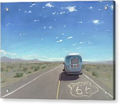 Route 66, Somewhere In California Acrylic Print