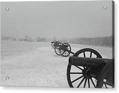 Row Of Cannon Acrylic Print
