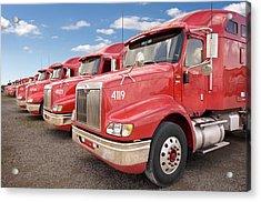 Row Of Trucks Acrylic Print