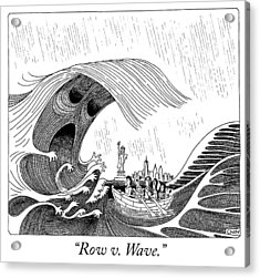 Row V Wave Acrylic Print by Tom Chitty