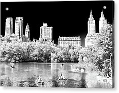 Rowing In Central Park New York City Acrylic Print