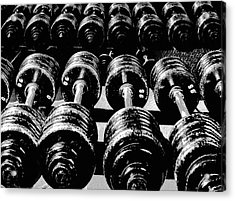 Rows Of Dumbbells Acrylic Print