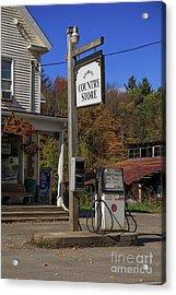 Roxbury Country Store Roxbury Vermont Acrylic Print