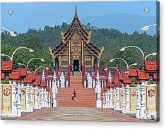 Acrylic Print featuring the photograph Royal Park Rajapruek Avenue To The Grand Pavilion Dthcm2584 by Gerry Gantt
