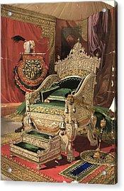 Royal Throne Acrylic Print by Hulton Archive