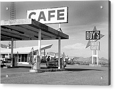 Roys Motel, Cafe, And Gas On Route 66 Acrylic Print by Car Culture