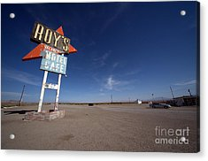Roys Sign On Route 66 Acrylic Print