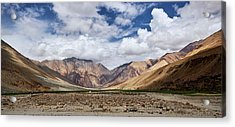 Acrylic Print featuring the photograph Rugged Himalayan Mountains by Whitney Goodey