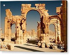 Ruins Of Ancient City Of Palmyra In Acrylic Print
