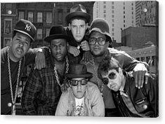 Run-dmc & Beastie Boys Acrylic Print by New York Daily News Archive
