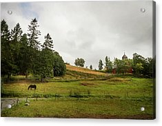 Rural Landscape In Trondheim Norway Acrylic Print