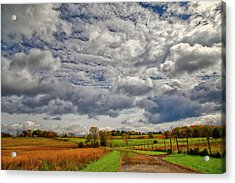 Acrylic Print featuring the photograph Rural New Paltz Hudson Valley Ny by Susan Candelario