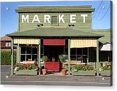 Rural Store Market Building In Country Acrylic Print