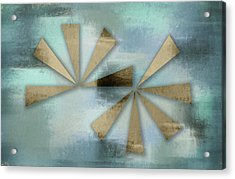 Rusted Triangles On Blue Grey Backdrop Acrylic Print