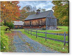 Acrylic Print featuring the photograph Rustic Barn by Juergen Roth