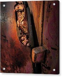 Rusty Hinge Acrylic Print