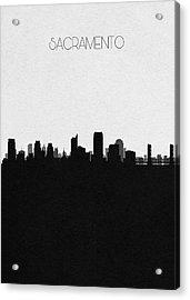 Sacramento Cityscape Art Acrylic Print