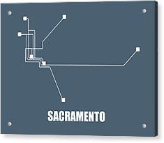 Sacramento Subway Map Acrylic Print