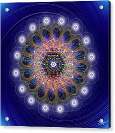 Acrylic Print featuring the digital art Sacred Geometry 726 by Endre Balogh