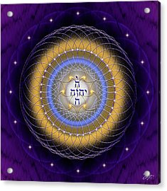 Acrylic Print featuring the digital art Sacred Geometry 727 by Endre Balogh