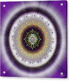 Acrylic Print featuring the digital art Sacred Geometry 729 by Endre Balogh