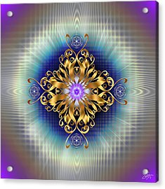 Acrylic Print featuring the digital art Sacred Geometry 730 by Endre Balogh