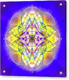 Acrylic Print featuring the digital art Sacred Geometry 731 by Endre Balogh