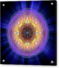 Acrylic Print featuring the digital art Sacred Geometry 732 by Endre Balogh