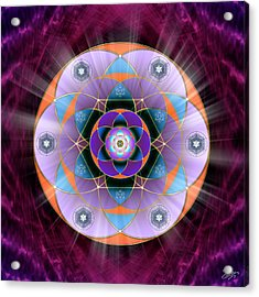 Acrylic Print featuring the digital art Sacred Geometry 733 by Endre Balogh