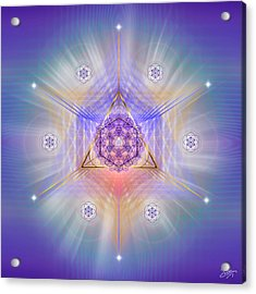 Acrylic Print featuring the digital art Sacred Geometry 734 by Endre Balogh