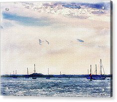 Acrylic Print featuring the digital art Safe Harbor by Barry Jones