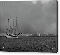 Sail In The Fog Acrylic Print