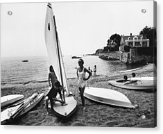 Sailboat Acrylic Print by Slim Aarons