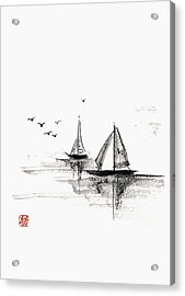 Sailboats On The Water Acrylic Print