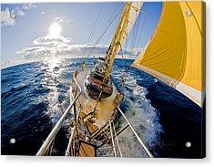 Sailing A Ketch Acrylic Print by John White Photos