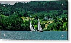 Sailing By Acrylic Print