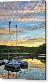 Acrylic Print featuring the photograph Sailing Lake Waban by Juergen Roth