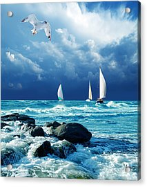 Sailing Regatta Acrylic Print