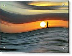 Sailing To The Sunset Acrylic Print