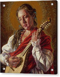 Saint Cecelia Mosaic Acrylic Print