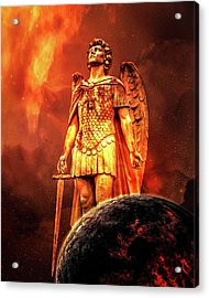 Acrylic Print featuring the photograph Saint Michael by Michael Arend