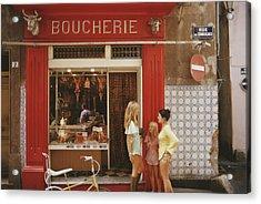 Saint-tropez Boucherie Acrylic Print by Slim Aarons