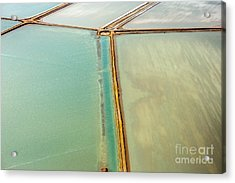 Saline Aerial View In Shark Bay Monkey Acrylic Print