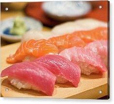 Salmon And Maguro Sushi Acrylic Print