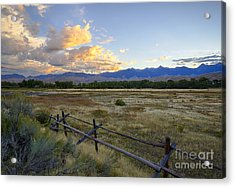 Salmon Valley Dawn Acrylic Print