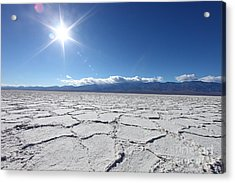 Salt Badwater Formations In Death Acrylic Print