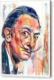Salvador Dali Portrait Acrylic Print