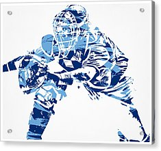 Salvador Perez Kansas City Royals Pixel Art 1 Acrylic Print