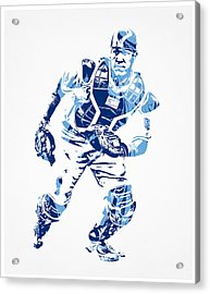 Salvador Perez Kansas City Royals Pixel Art 2 Acrylic Print